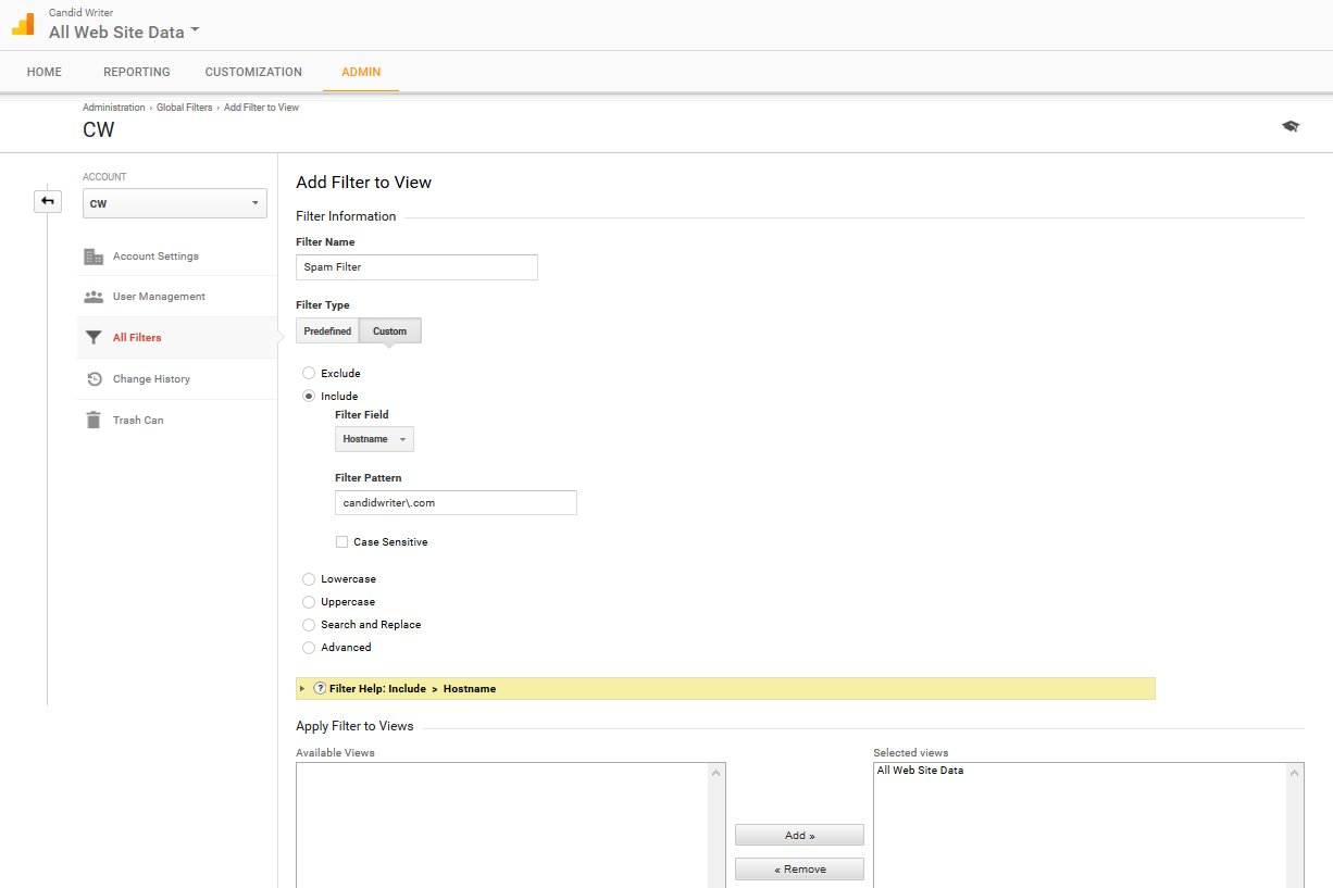 Google Analytics Create A Referrer Spam Filter Step 5 Final Details   Source