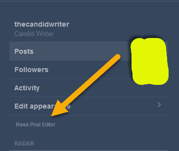Tumblr Mass Post Editor Mega Editor   Source