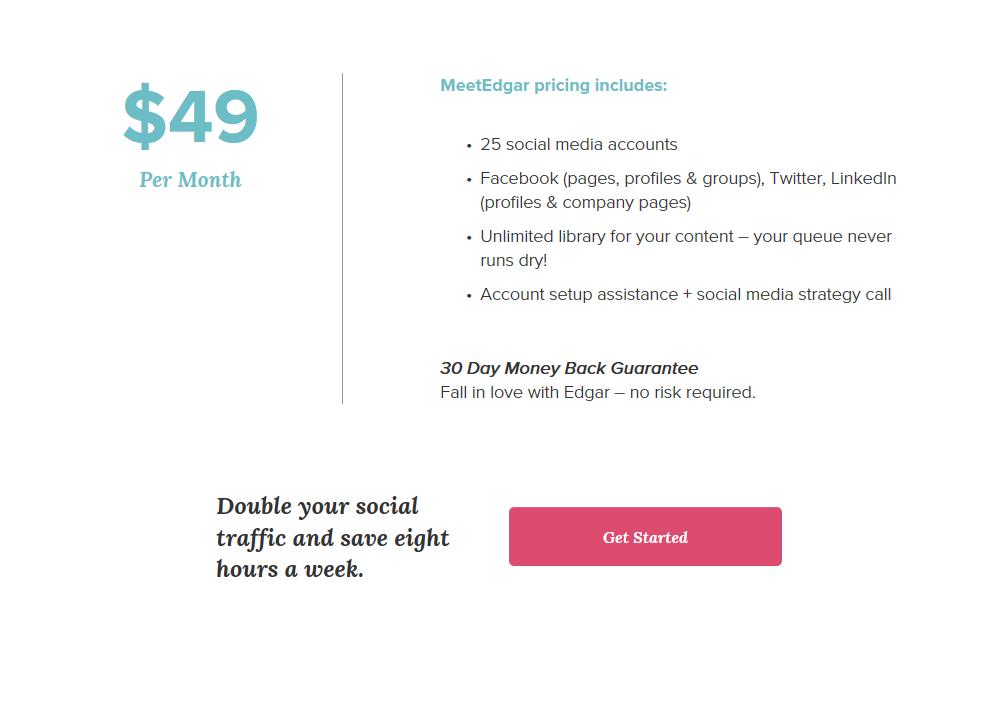 Meet Edgar Review Social Media Pricing Plans   Sour  ce