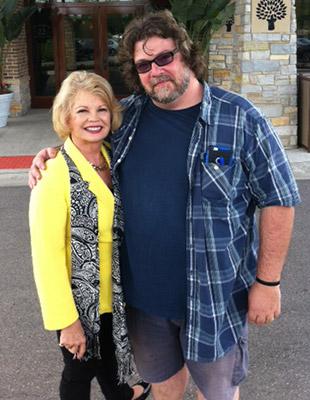 Kathy with director John Norton