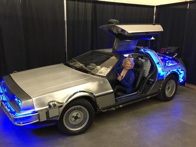 In the Back to the Future Delorean car