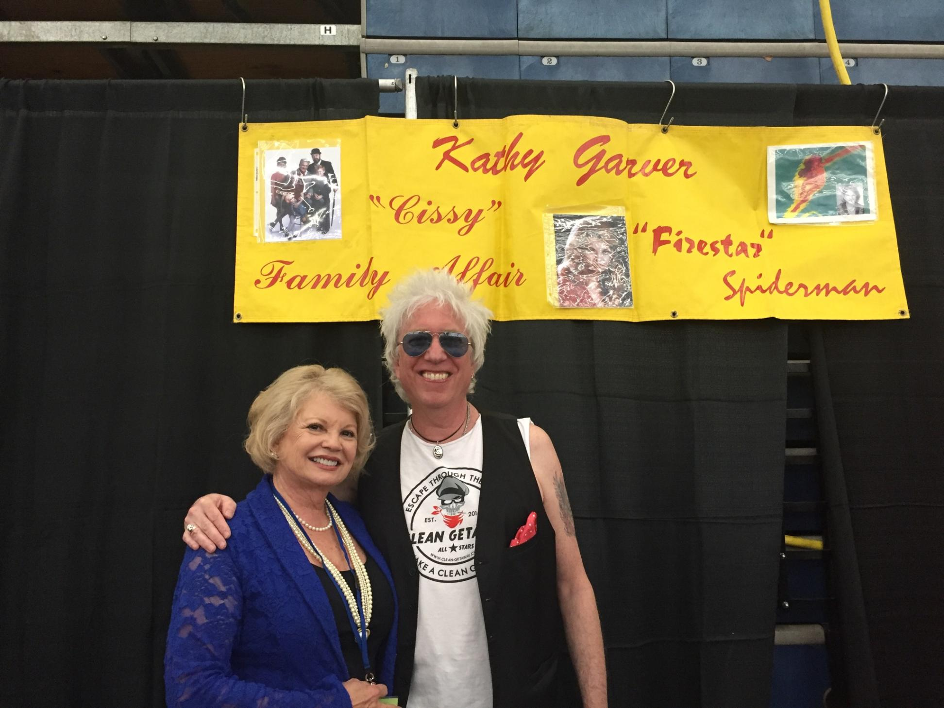 With rock star Ricky Byrd - terrific guy and wonderful humanitarian
