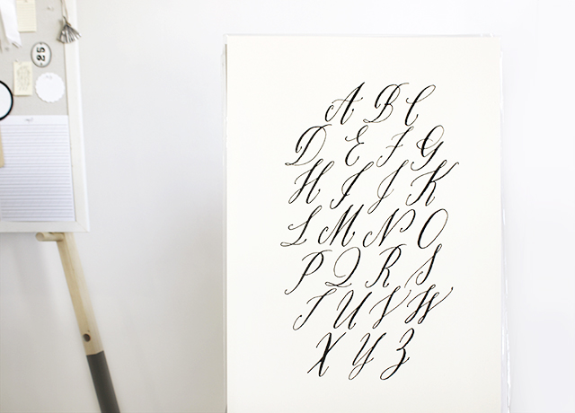 Maybelle's calligraphy artwork print