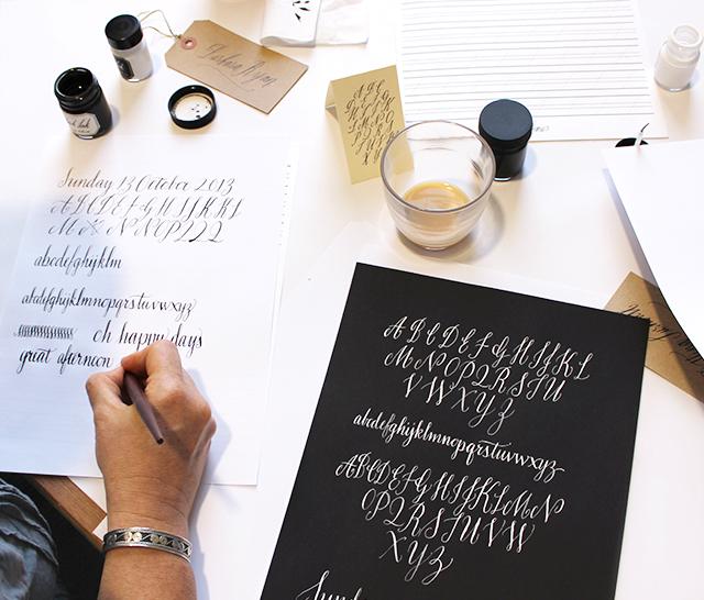 Barbara Ryan's beautiful student calligraphy