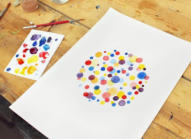 My watercolour dots