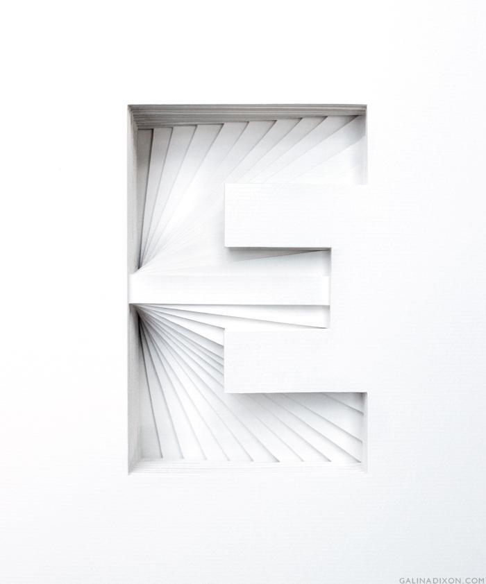 E Paper Sculpture by Galina Dixon© 4