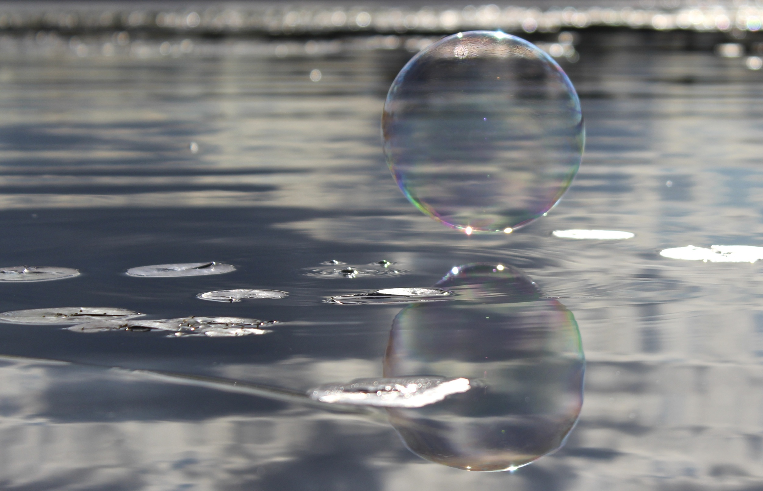 Blowing Bubbles on the Lake 3