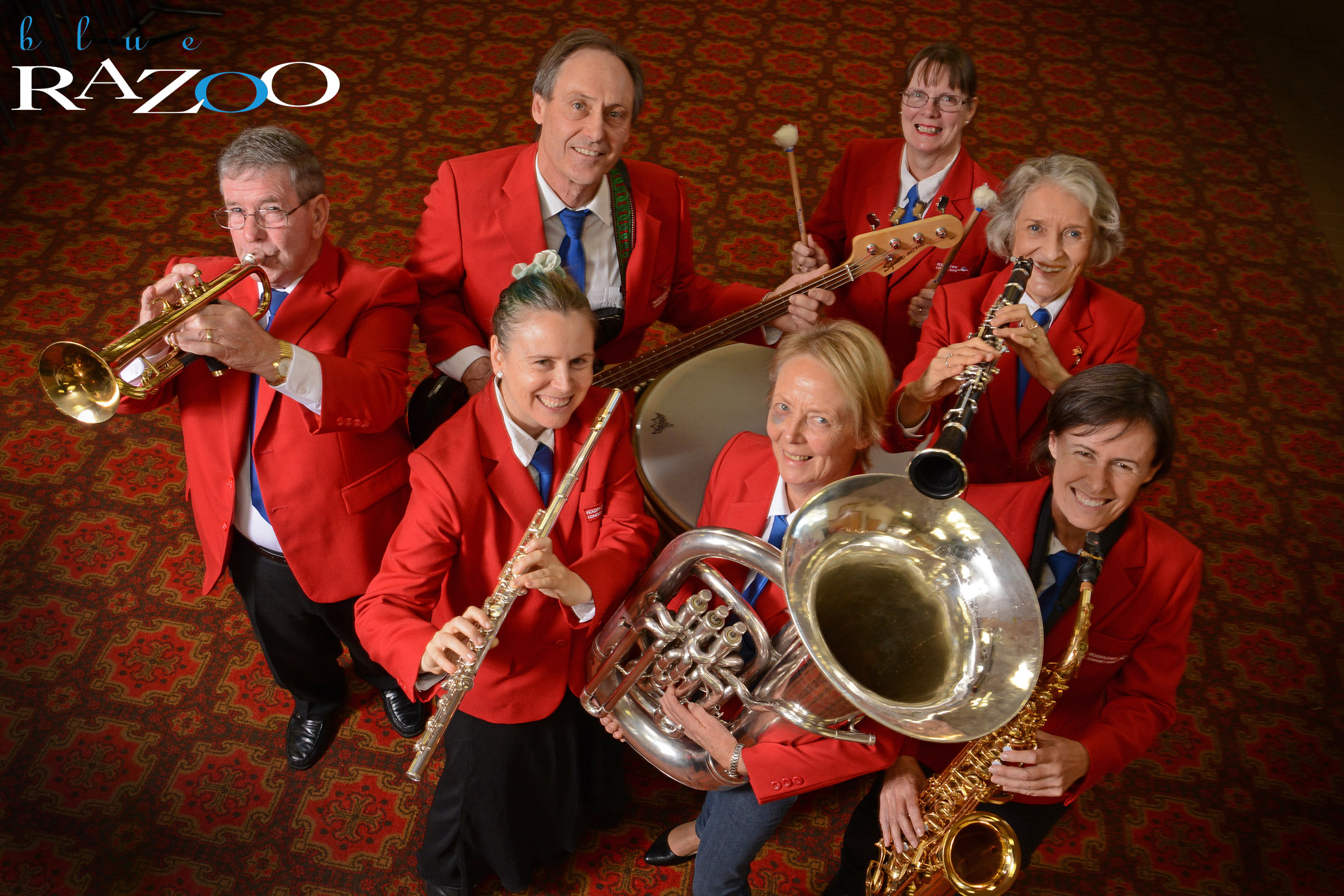 """City of Holdfasts Concert Band, """"Get the Tuba front and centre, then get everyone around the Tuba"""". Poor Lady, apparently they're very heavy."""