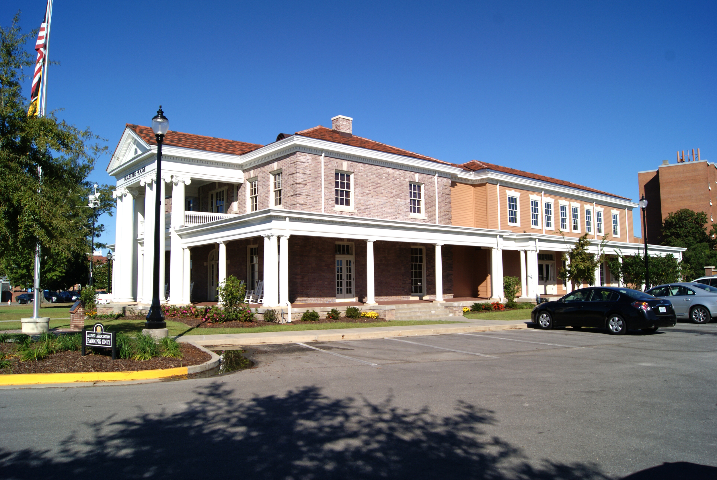 Side view of the restored Ogletree Alumni House at the University of Southern Mississippi. October 30, 2014, Hattiesburg, Miss.