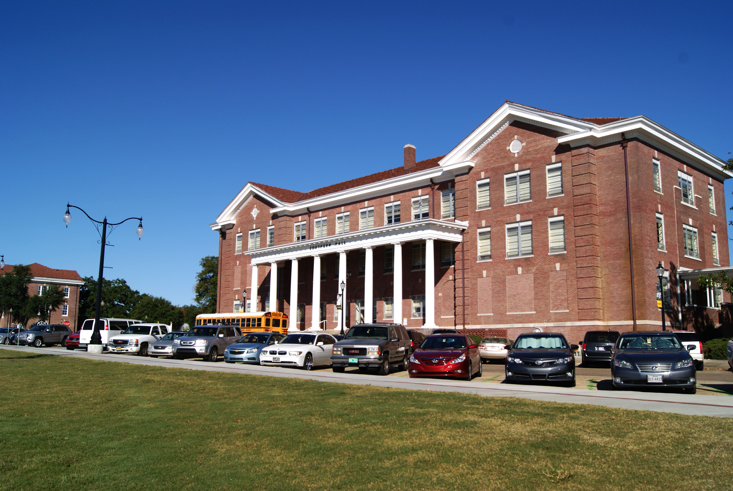 The reconstructed front lawn of Southern Hall, The University of Southern Mississippi. October 30, 2014, Hattiesburg, Miss.