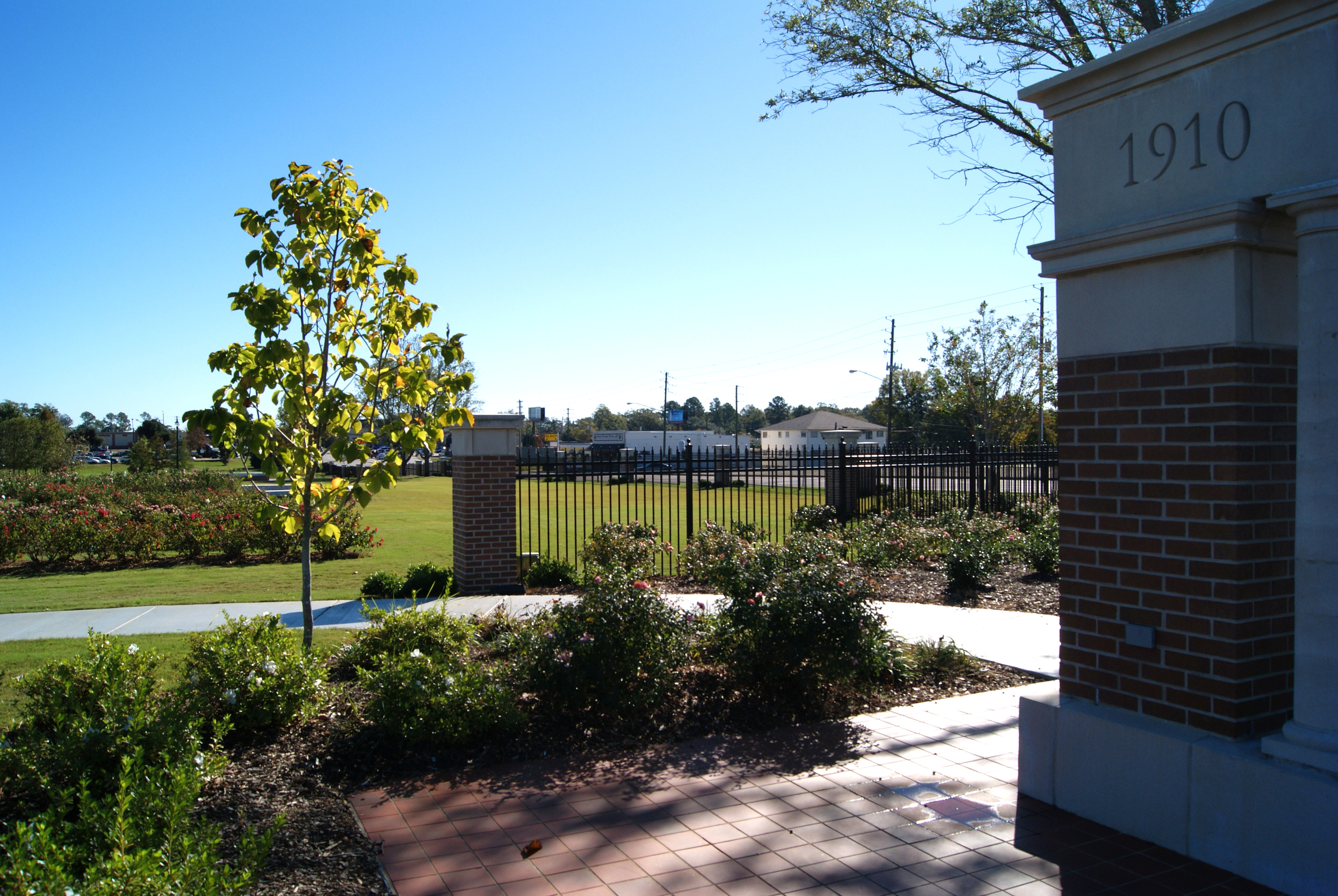 The University of Southern Mississippi reconstructed gateway. October 30, 2014, Hattiesburg, Miss.