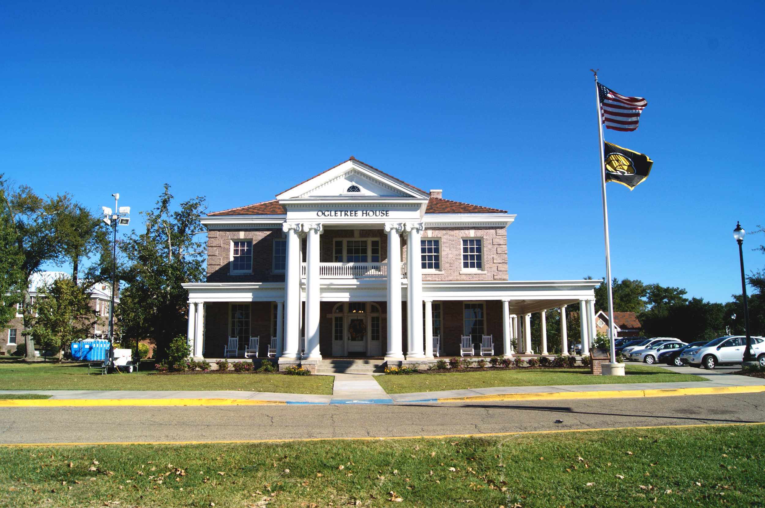 The restored Ogletree Alumni House at the University of Southern Mississippi. October 30, 2014, Hattiesburg, Miss.Photo by Karelia Schmitz.