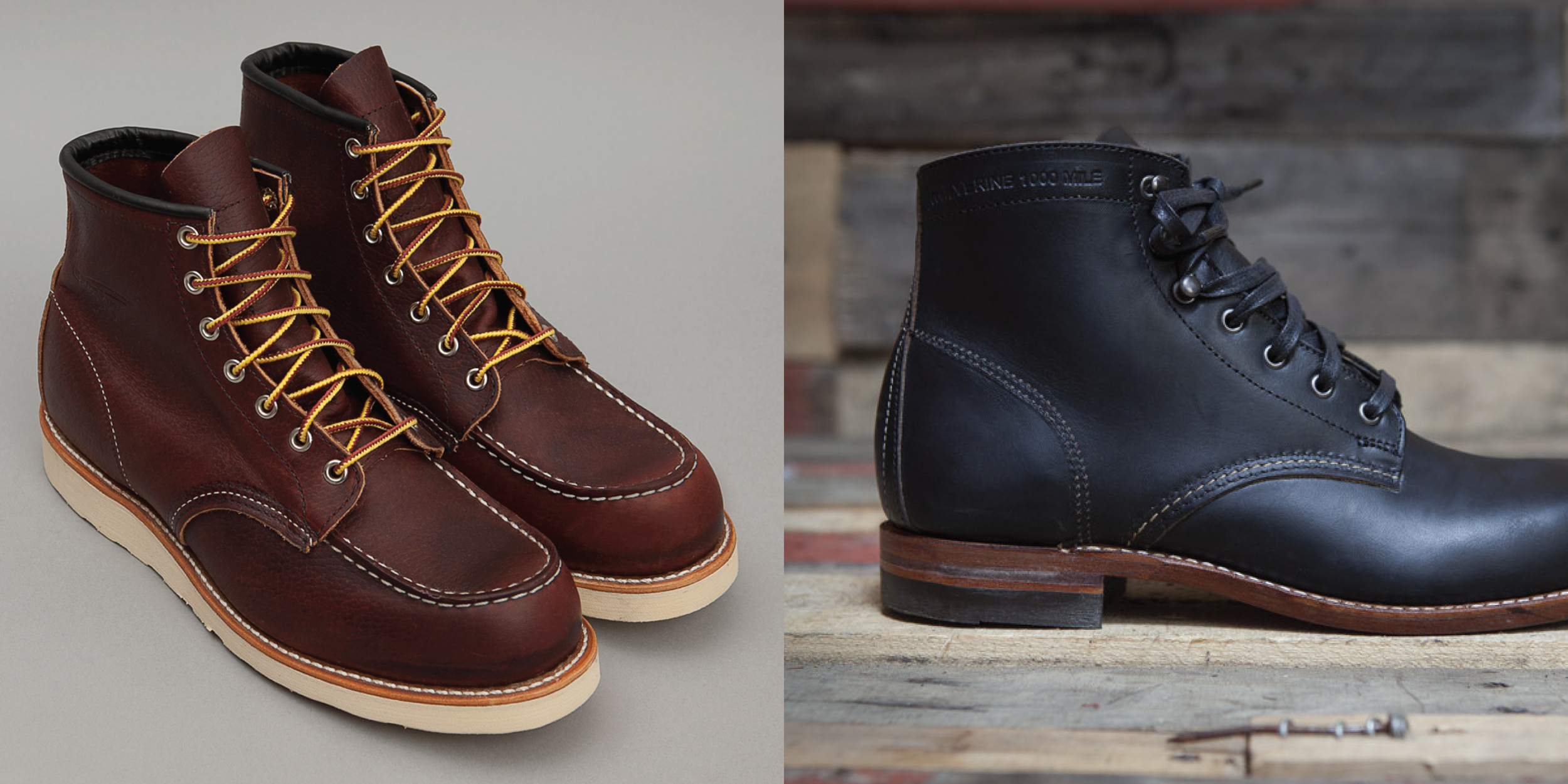 Classic boot inspiration takes the Free Chukka boot to a more rugged space with leather uppers, heavy stitching, boot laces, and metal eyelets.