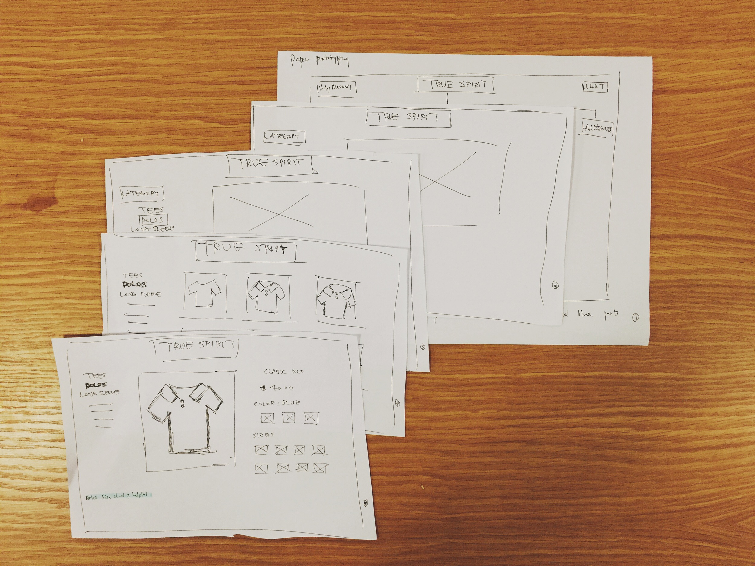 Simple paper prototype