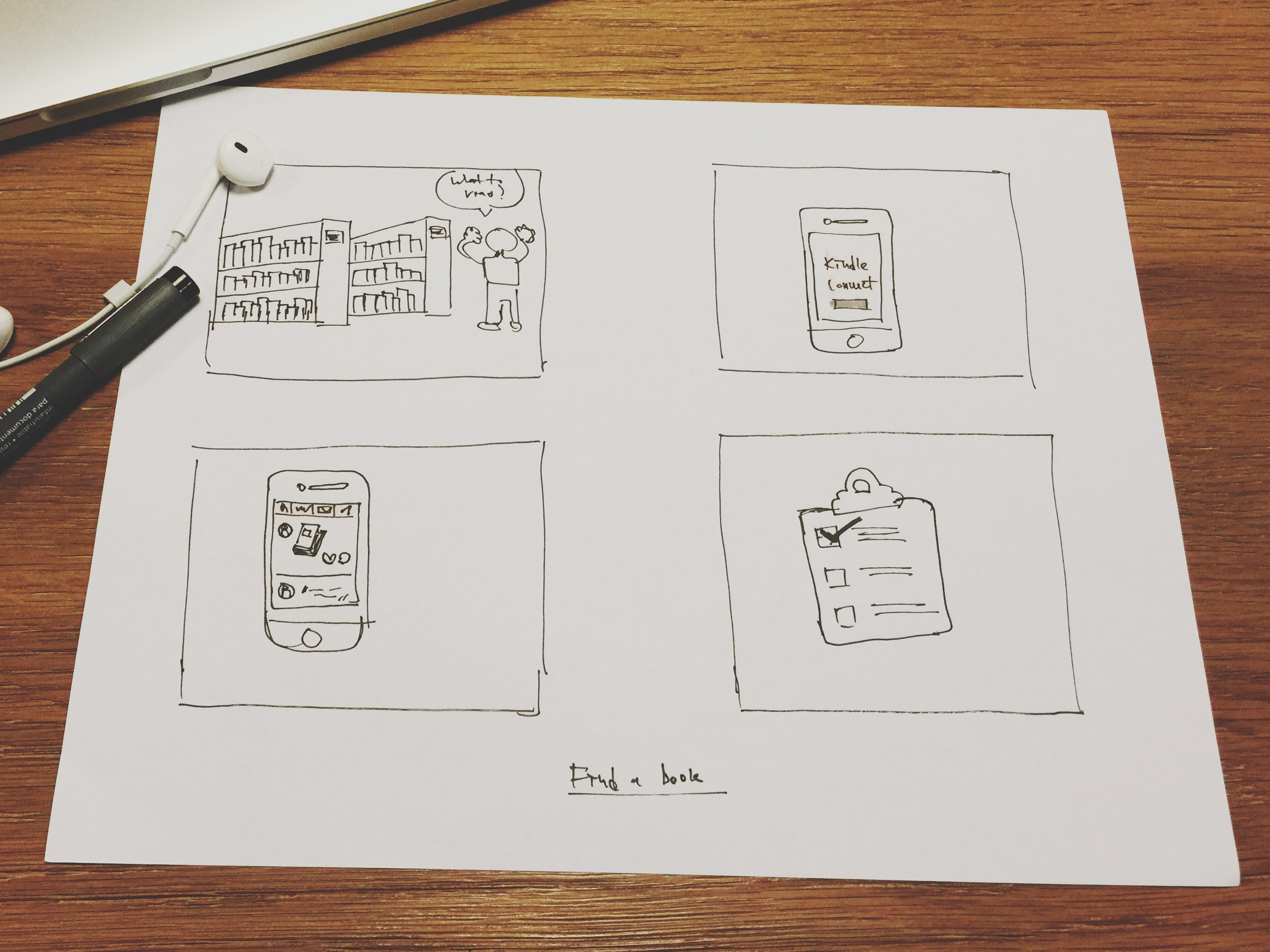 Storyboard // Find a book