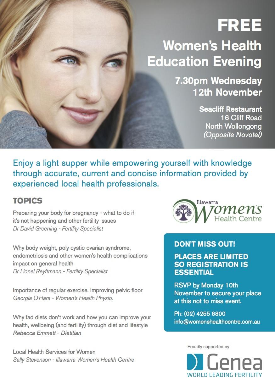 Womens Health Evening