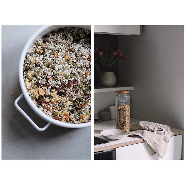 Morning everyone! Today my gluten free granola recipe is up on the @table_magazine website. I'm hopefully going to be making more of an effort to share recipes over there of things that I make time and time again. This particular one is a creation of my mums @thewanderingfolks and has since then turned into a breakfast staple of mine. What are some of your breakfast favourites? . . . . #glutenfreerecipes #glutenfreebreakfast #granolarecipe #shadowhunters #morningslikethis #morningslikethese #tableconversations #nutsandseeds #myfoodstory #coconutrecipes #thefeedfeed
