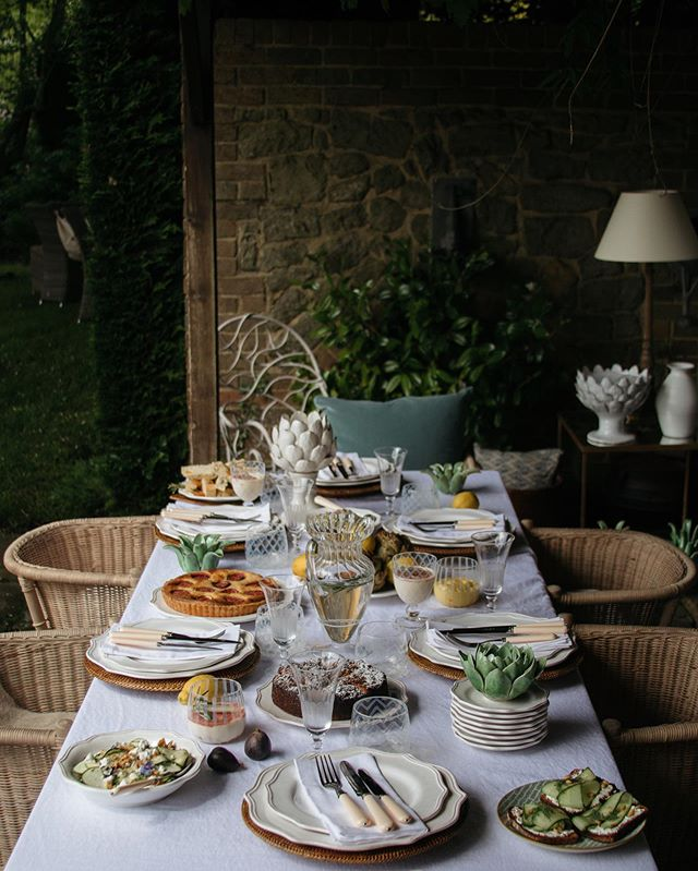 "It may not feel like an alfresco dining day today but the weather during this shoot for @oka with @alexandradudley and @manonlagreve was actually quite similar! I had such a fun time shooting this table scene at @alexandradudley family home this past July and the post-shoot lunch even more 😉 - ""note to self, book more food shoots""☝🏻"