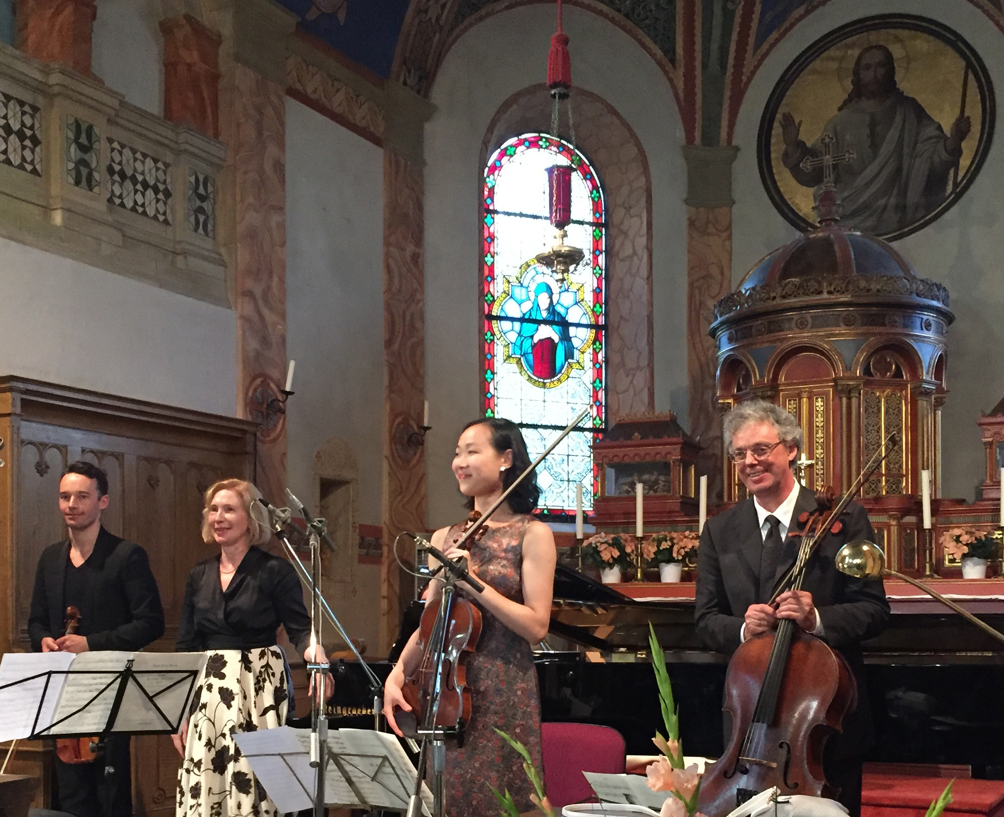 Linus Roth, Margarita Höhenrieder, Wenting Kang, Julius Berger Foto: Monika Dittmar