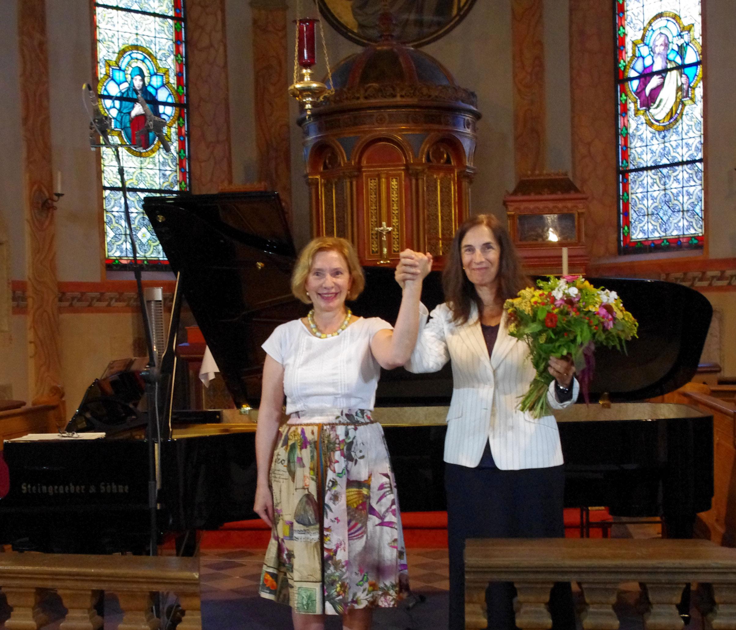 Margarita Höhenrieder und Françoise Choveaux Foto: Monika Dittmar