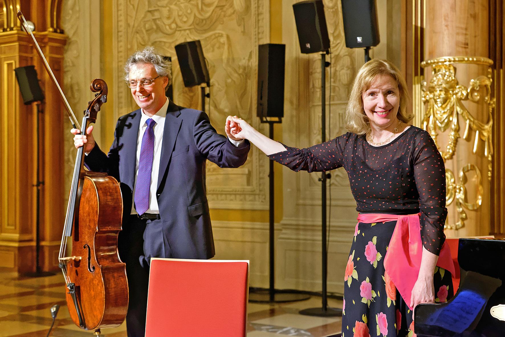 Julius Berger und Margarita Höhenrieder im Goldenen Saal, Augsburg Foto: Klaus Satzinger-Viel