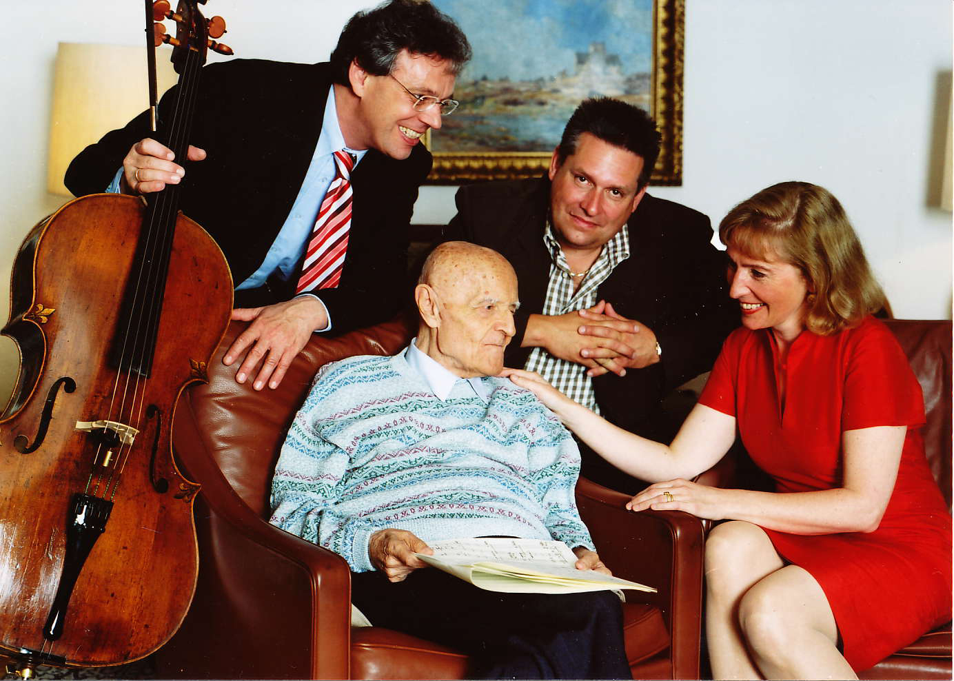 Julius Berger, Harald Genzmer (1909-2007), Peter Sadlo (1962-2016), Margarita Höhenrieder Foto: privat