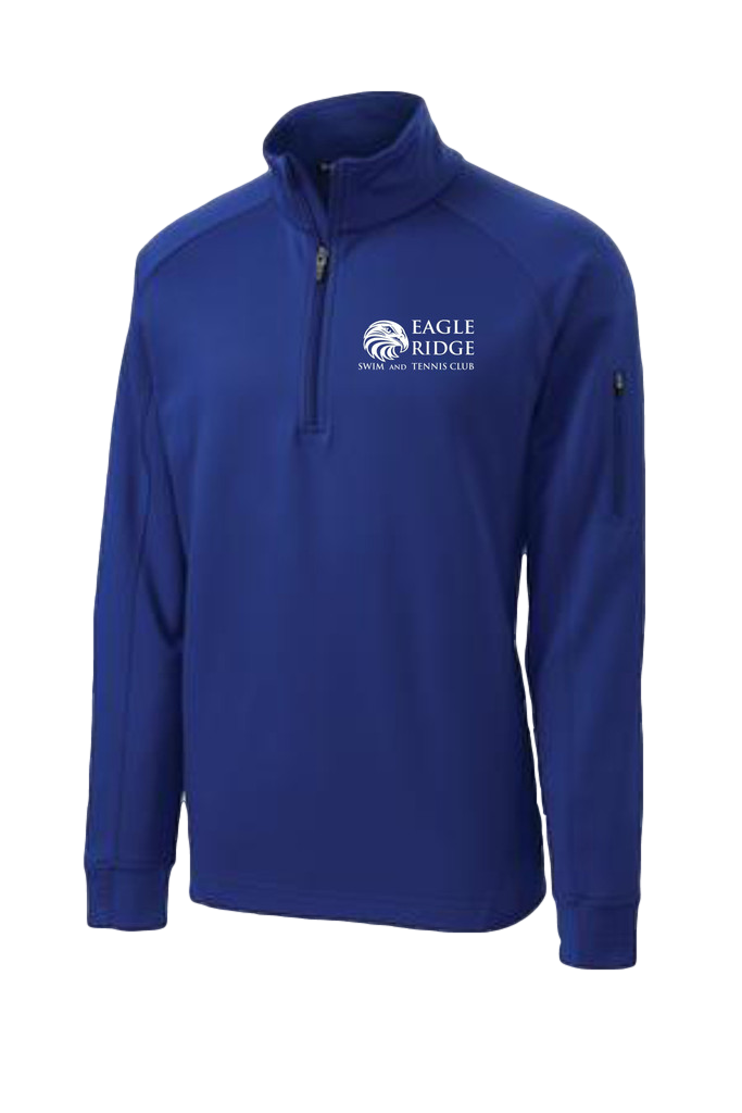 Unisex Tech Fleece $57.00    Cool, dry and colorfast, this quarter-zip pullover has a smooth face and brushed backing for comfort. It features double-knit construction, as well as a zippered pocket on the left sleeve and a chin guard.