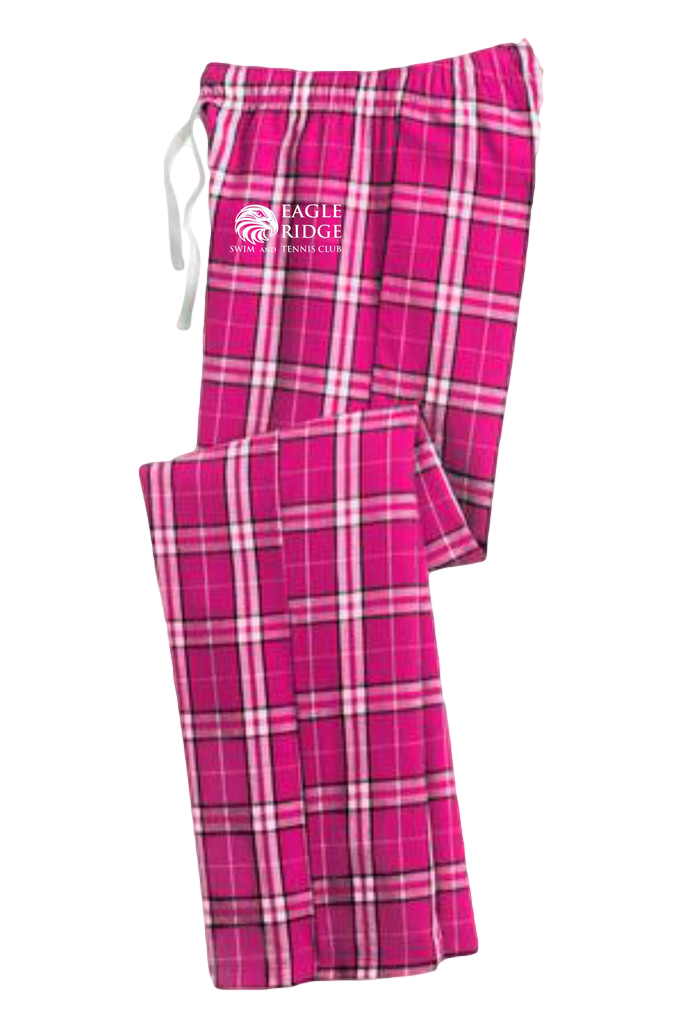 Girls Juniors Flannel Pants $32.00    Comfort taken to the extreme in a fun plaid. 4.3-ounce, 100% ring spun combed cotton. Elastic waistband with functional twill tape drawcord.