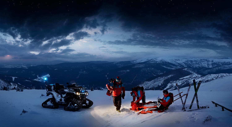 mountain service advertising night horska sluzba