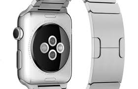 The back of the Apple Watch, showing the HR monitor
