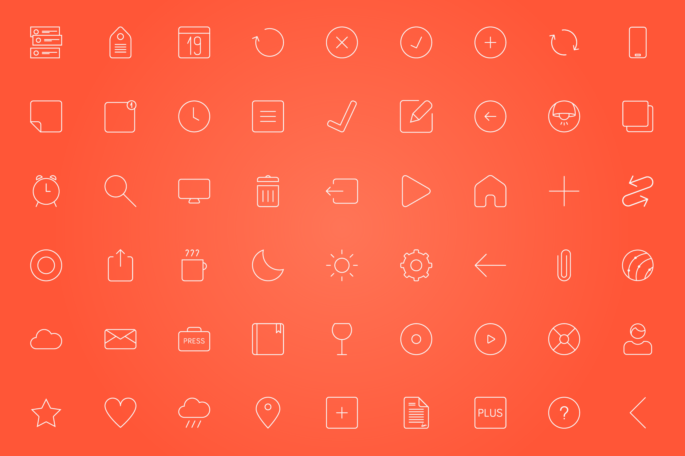 The Swipes icons are all outline vector made. This gives priority to the most important - the content.