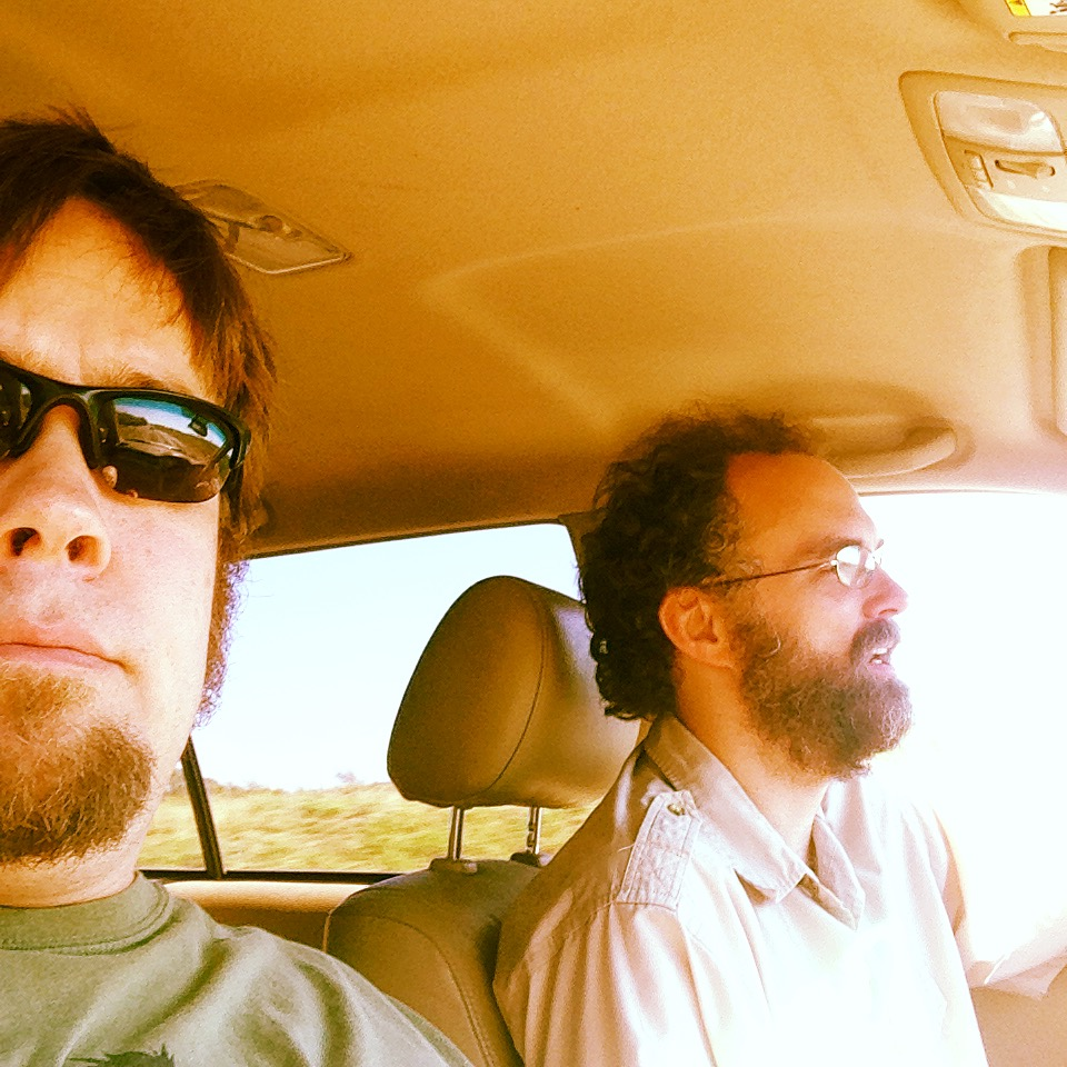 Pete and Ken on the road in Texas. October 2014.