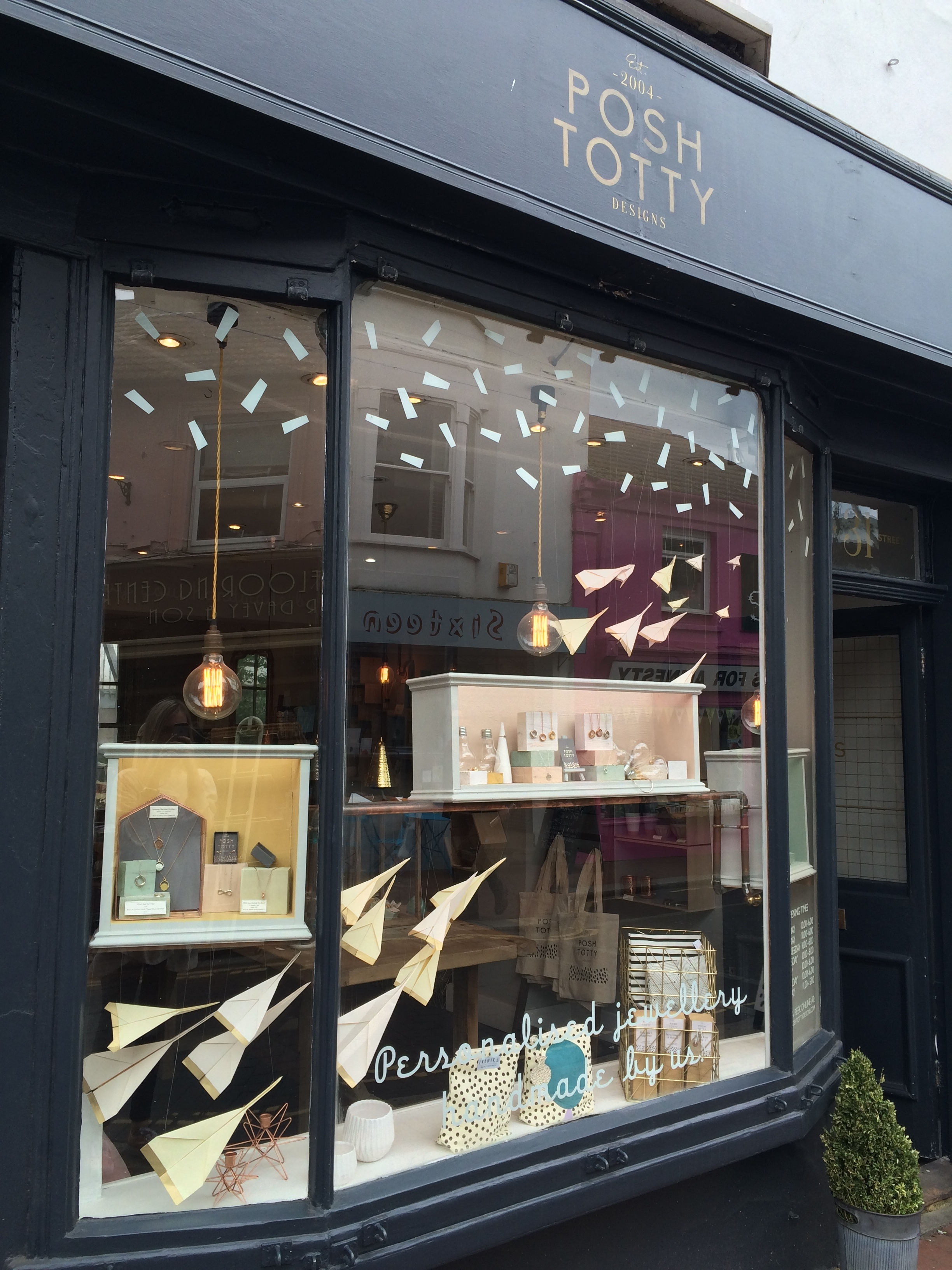 Posh Totty Designs Flagship Store Window Display
