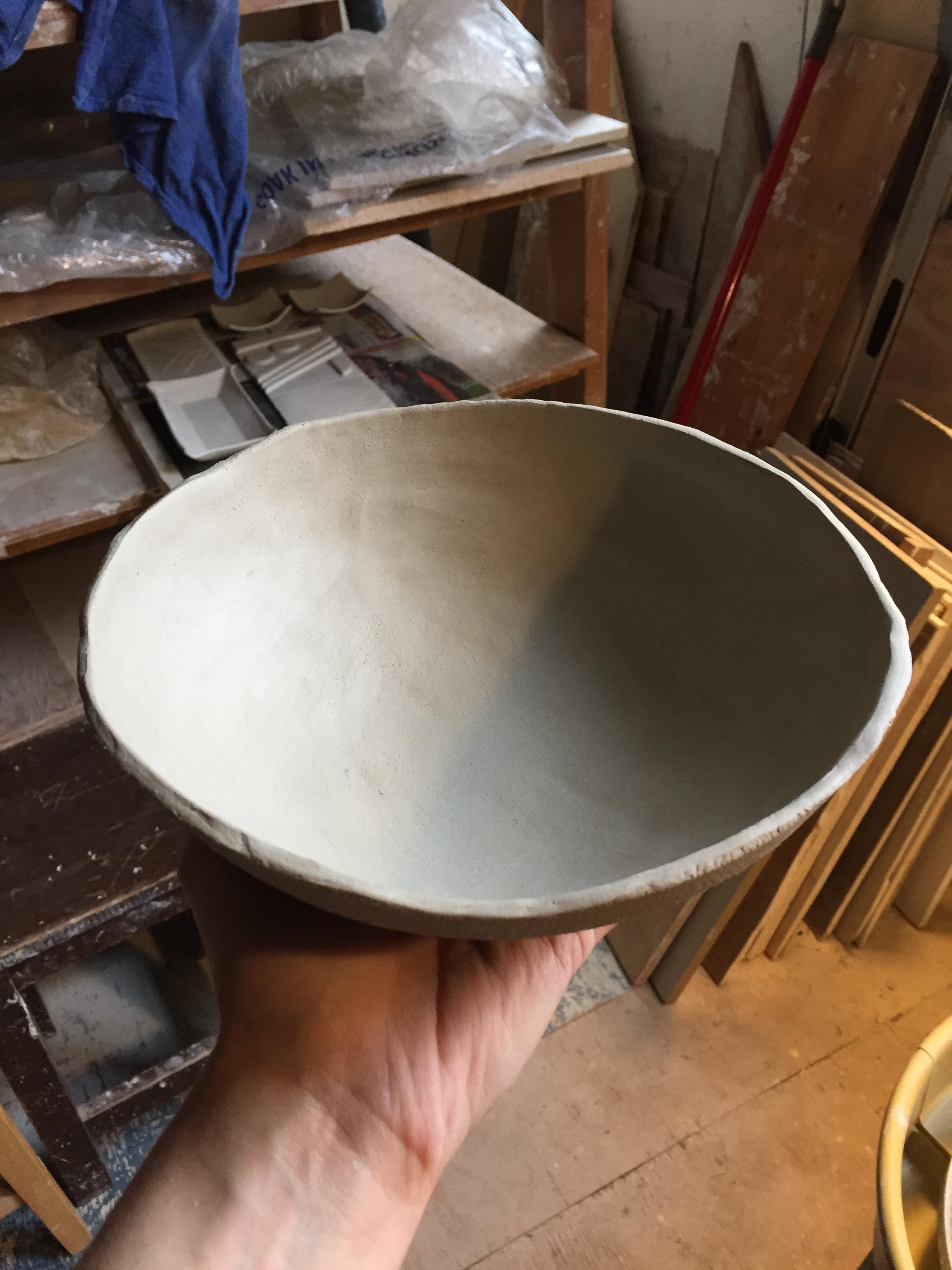 pinch pot pressed