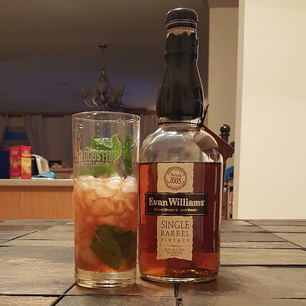 Bourbon...mint...strawberry...what could go wrong?