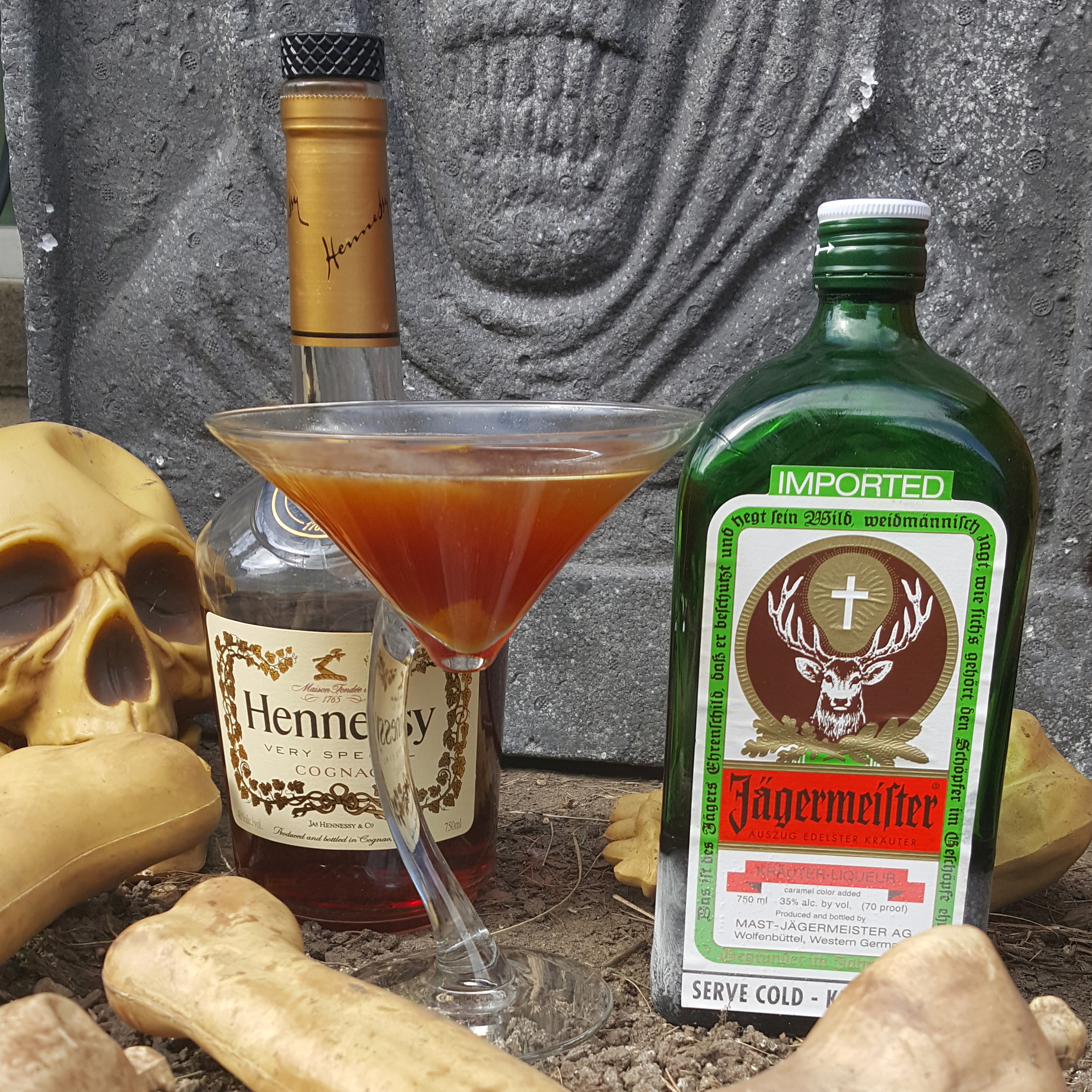 In honor of Dayton's Masquerage 2015, a Jagermeister cocktail.