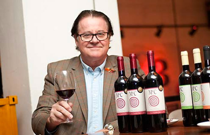 (Pictured the Serbian bio-dynamic wine with it's Scottish producer Don McCulloch)