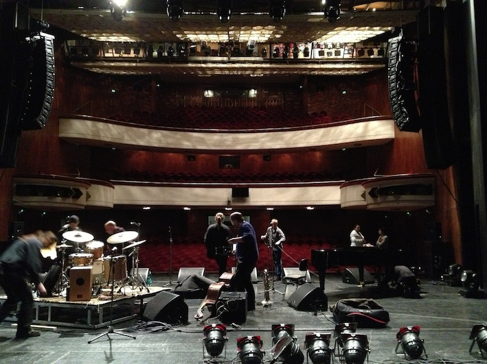 Sound check at the Halle Opera House, February 2014