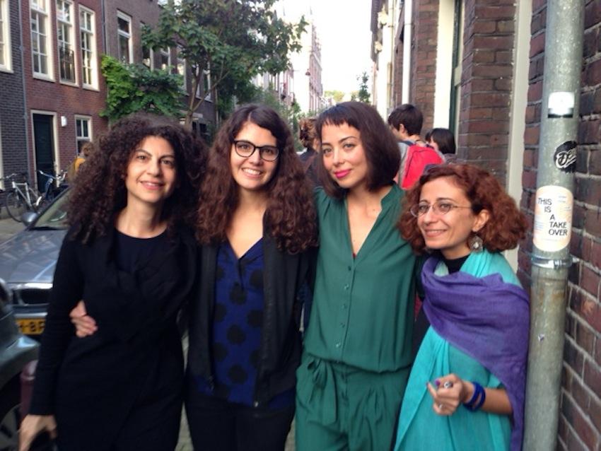 With painter Daniele Genadry and curators Nat Muller and Angela Harutyunyan