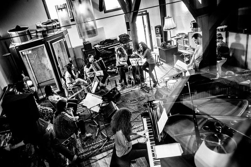 Rehearsals in a 300 year old house in the middle of the forest -  photo by Andy Spyra