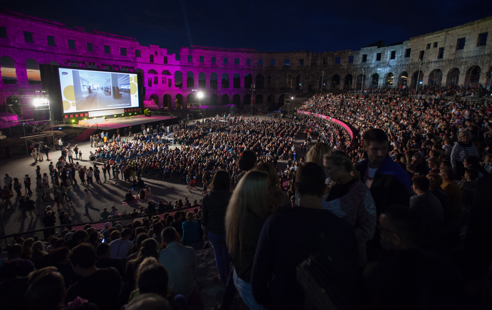 Pula's Roman arena where the award ceremony took place