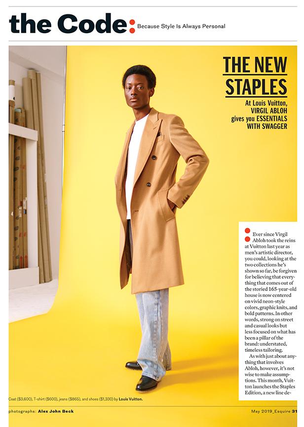 ESQUIRE: Virgil Abloh Essentials for Louis Vuitton