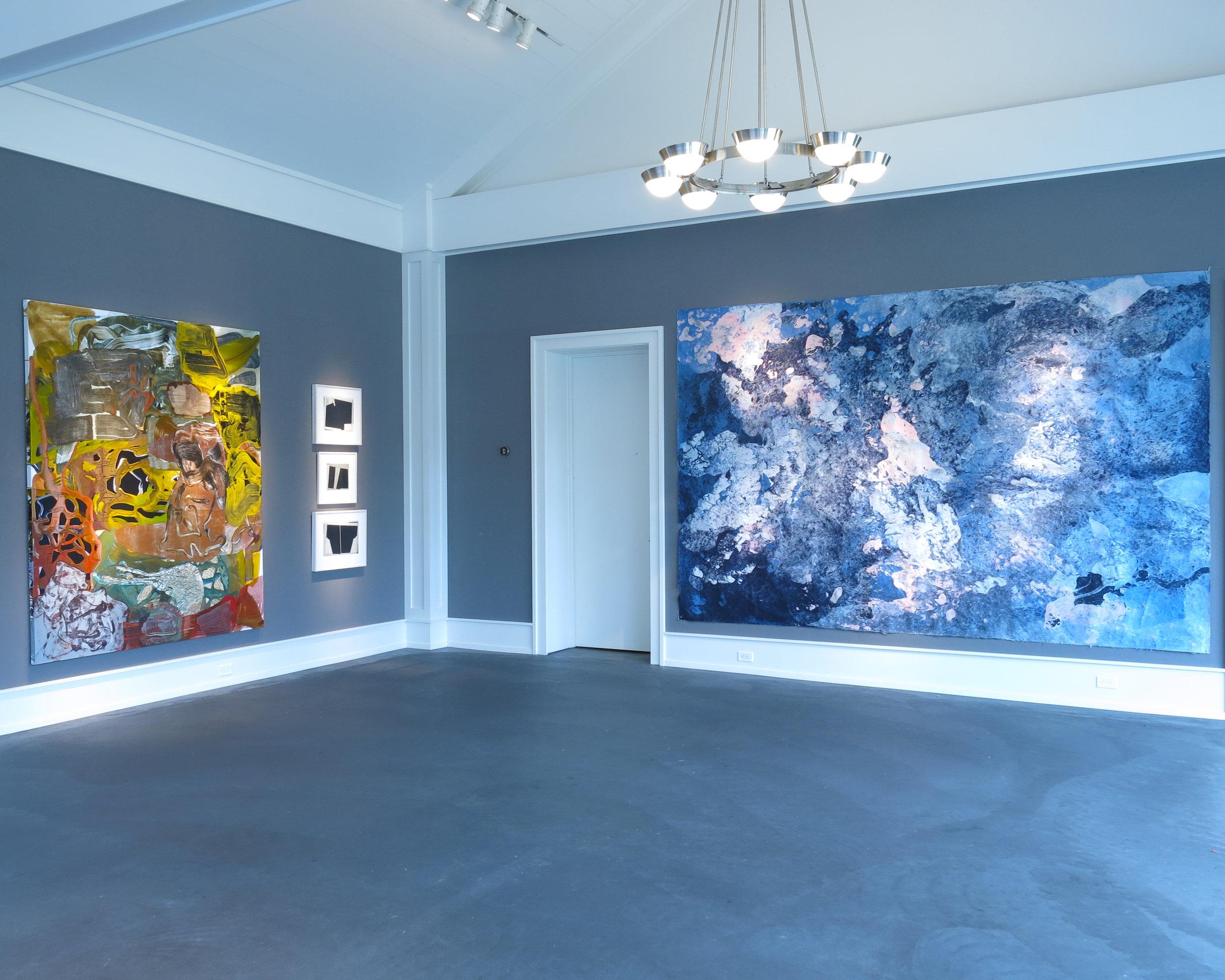 Zachary Keeting, John Willis, and Hong Hong in the Judy Black Memorial Space