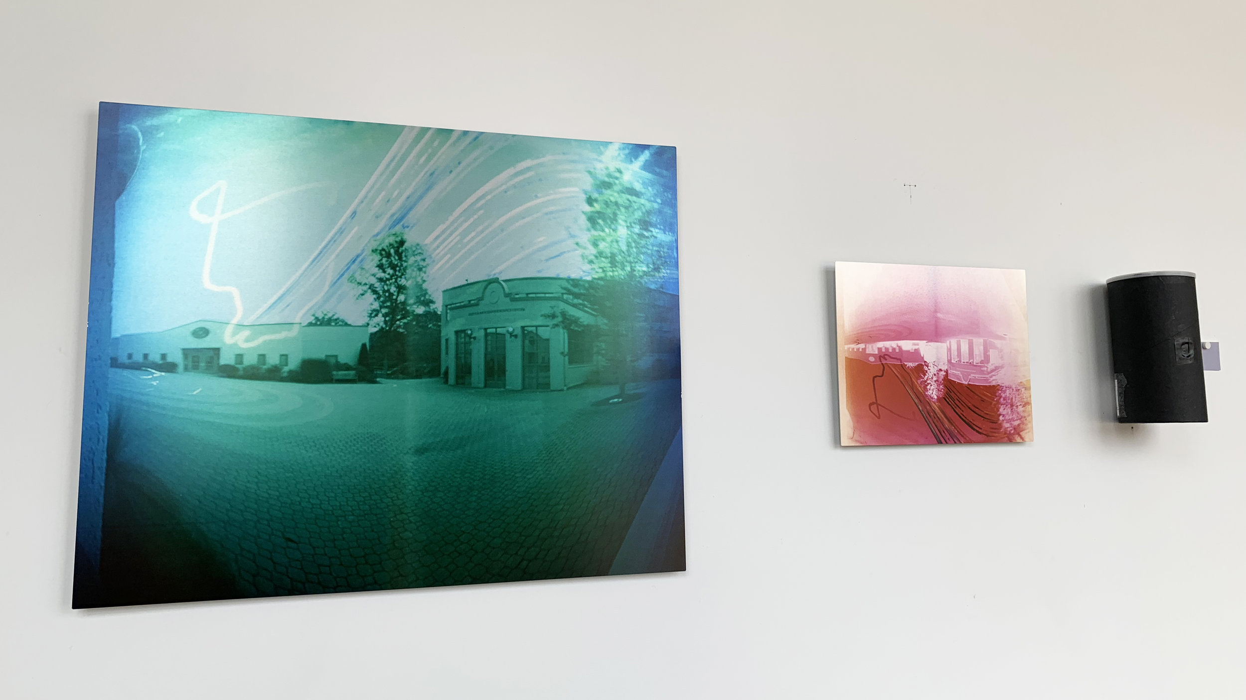 Installation view,  16 Weeks Under the Pines , Colin Burke, Hamden Hall Country Day School.