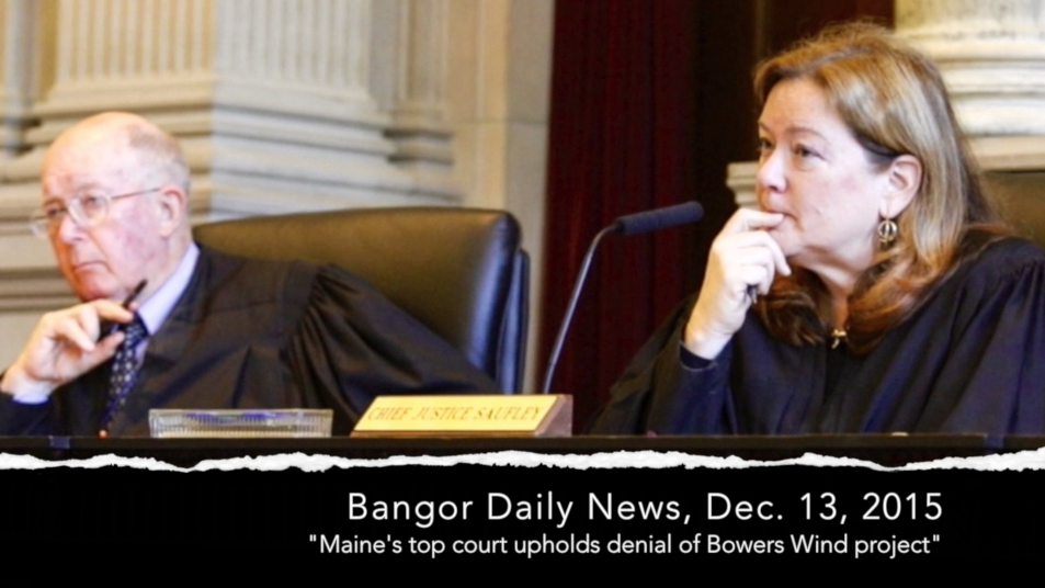 CLICK for video   : A decision welcomed by Maine's wind turbine opponents, and a couple lessons learned.