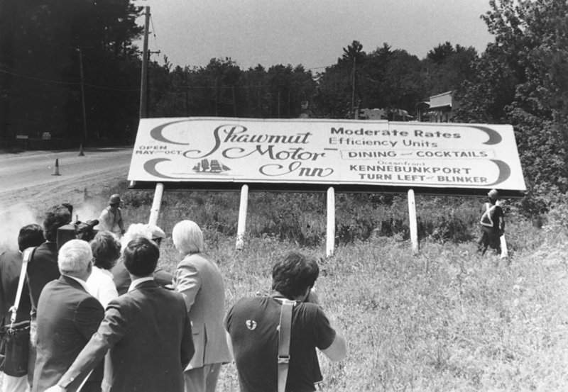 Maine tore down the billboards 40 years ago  (Press Herald photo)