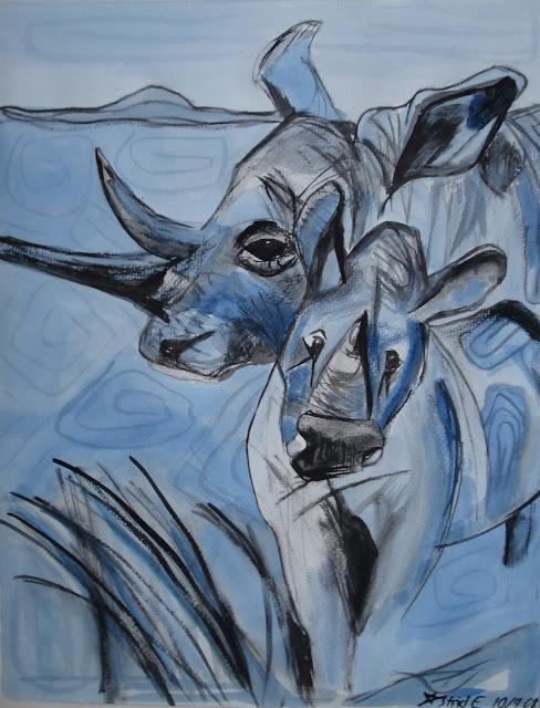 Blå næsehorn