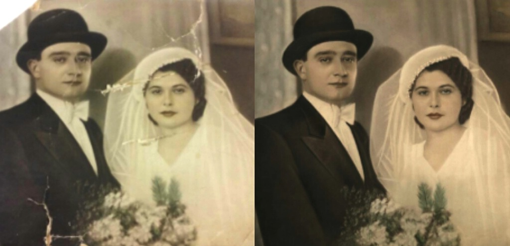 RESTORATION - Bring priceless moments back to life - get rid of rips and faded color from photos or paintings