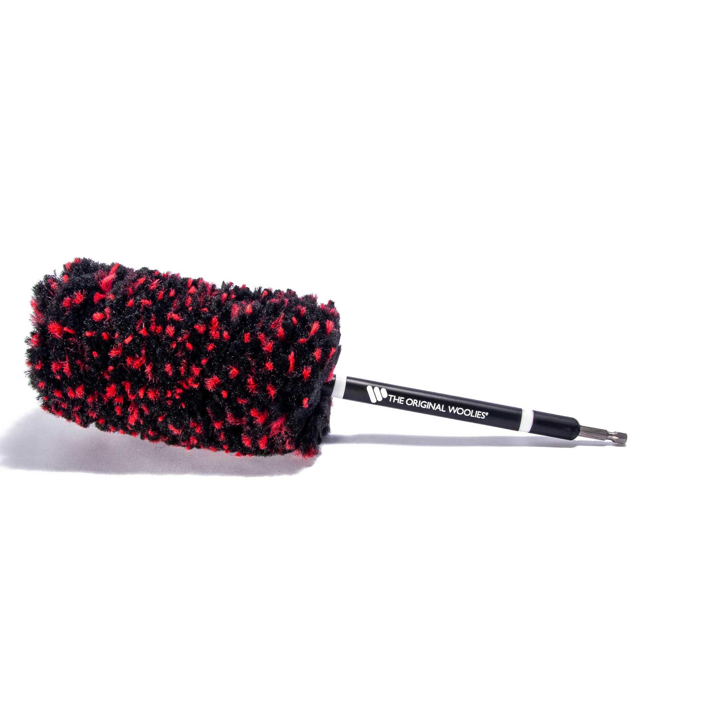 Wheel Woolies® 3 pack Red Grip Detailing brush kit Large Medium and Small