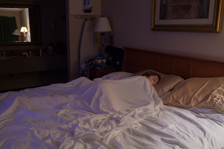 Hannah Asleep in Room 105 - 2015